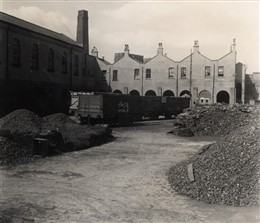 Photo:View of the coal yard at the Great Central Railway Depot, Lisson Grove October 1952